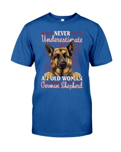 German shepherd never underestimate old woman