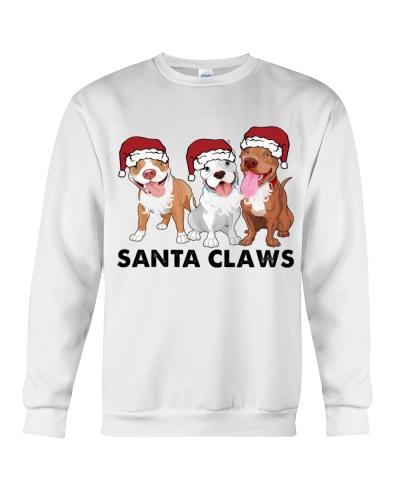 Pitbull Santa claws