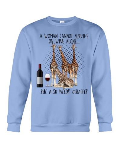Giraffes wine she needs