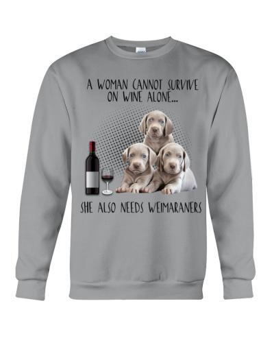 Weimaraners wine she needs
