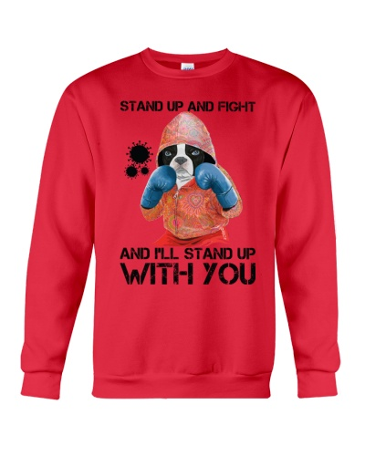 ln boston terrier stand up and fight