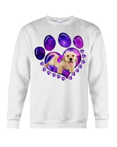 LT7 Purple galaxy paw golden retriever shirt