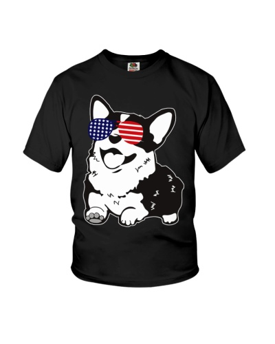 LT 6 corgi with glasses american so cool