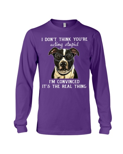 I Dont Think You Are Acting Stupid Pitbull Hoodie