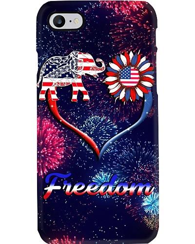 Elephant freedom phone case