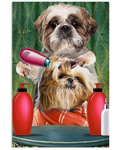 Shih tzu comb poster