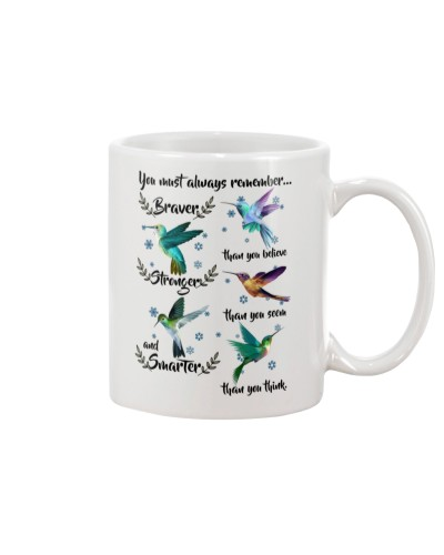 Hummingbird always remember mug