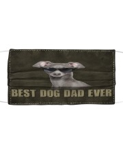 Th 2 Greyhound Best Dog Dad Ever Cloth face mask front