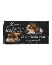 TH 30 Basset Hound Has Souls Cloth face mask front