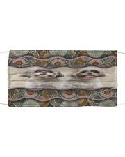 Monica shih tzu boho pattern Cloth face mask front
