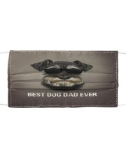 Schnauzer Best Dog Dad Ever Cloth face mask front
