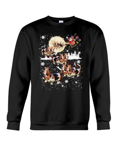 Basset Hound Reindeer Christmas