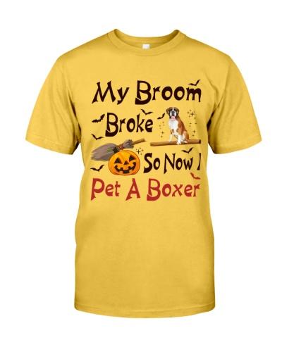 Boxer broom broke senorita