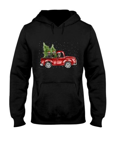 Rottweiler christmas car