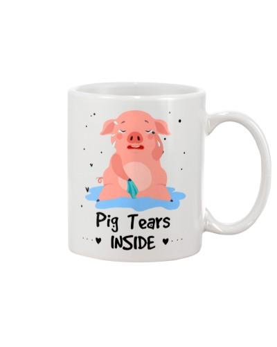 Pig tears inside