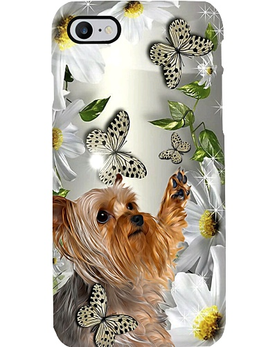 Yorkshire terrier daisy and butterfly