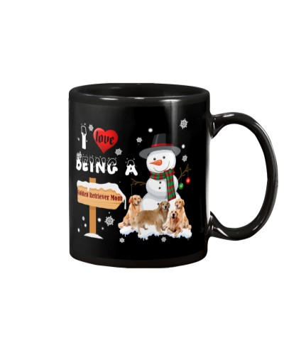 I love being Golden retriever mom mug