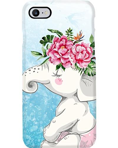Elephant flower phone case