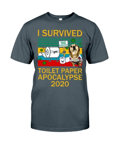 Dachshund I Survived Toilet Paper