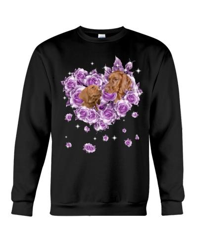 Vizsla mom purple rose shirt