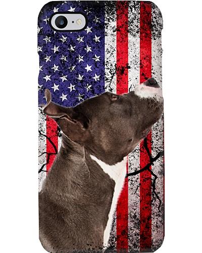 Pitbull flag phone case