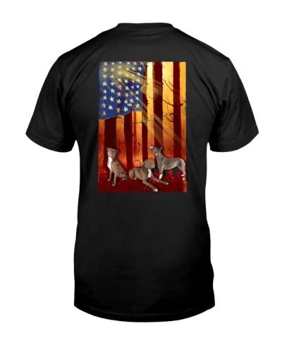 Pitbull American Flag