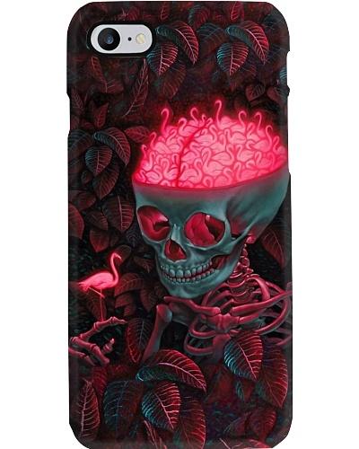 Flamingo in my head phone case
