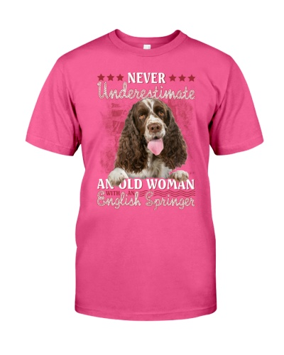 English springer never underestimate old woman
