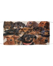 Monica dachshund many love Cloth face mask front