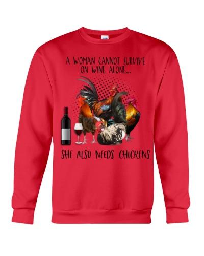 Chickens wine she needs