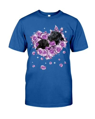 Great Dane mom purple rose shirt