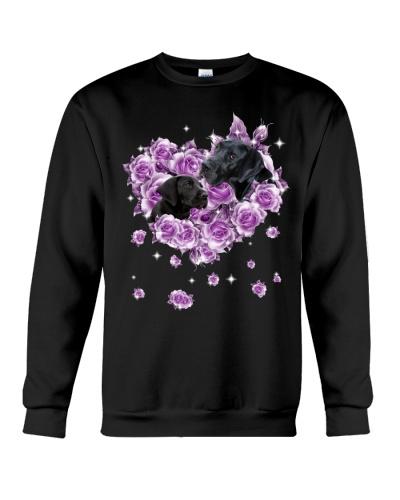 Great Dane mom purple rose shirt