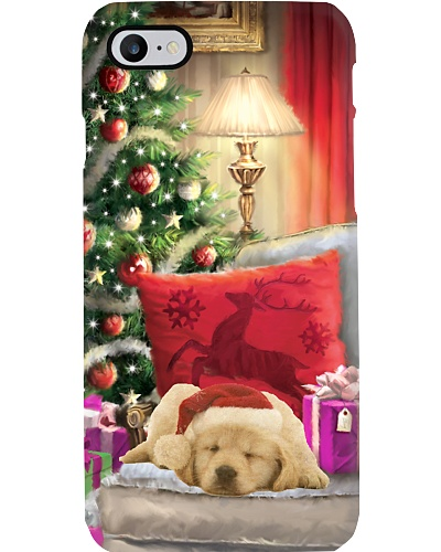 SHN Christmas house sleeping Golden Retriever