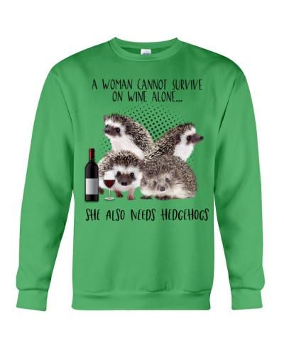 Hedgehogs wine she needs