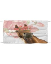 TH 2 Arabian Horse Lady  Cloth face mask front