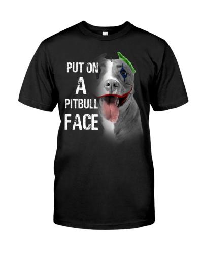 Pitbull put on a face