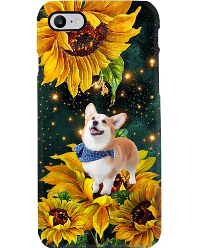 Corgi in the light sunflower world be a dog