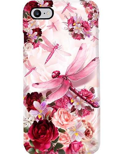 SHN 10 Pink roses Dragonfly phone case
