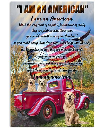 Golden Retriever i am an american