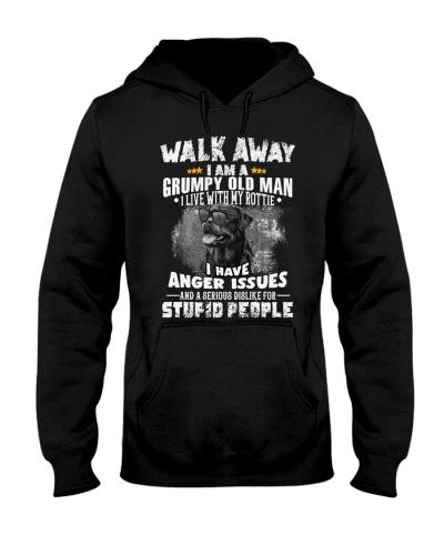 Rottweiler walk away