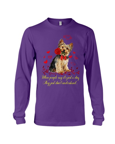 Yorkshire terrier big red heart with wings