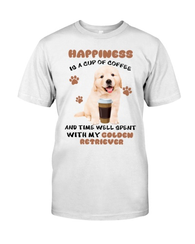 Coffee and time well spent with Golden Retriever