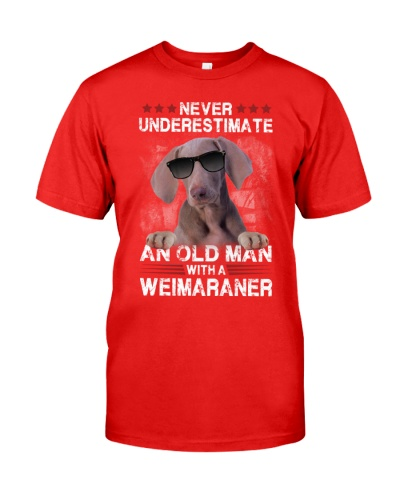 Weimaraner underestimate an old man