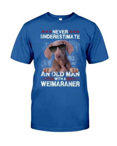 Weimaraner underestimate an old man