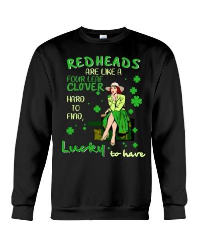 Redhead four leaf clover