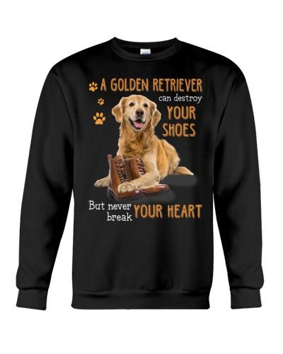 Mt Golden Retriever Never Break Your Heart Shirt