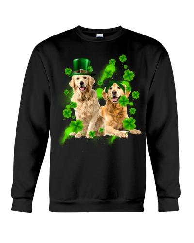 Lucky Patricks Day Couple Golden Retriever  Shirt
