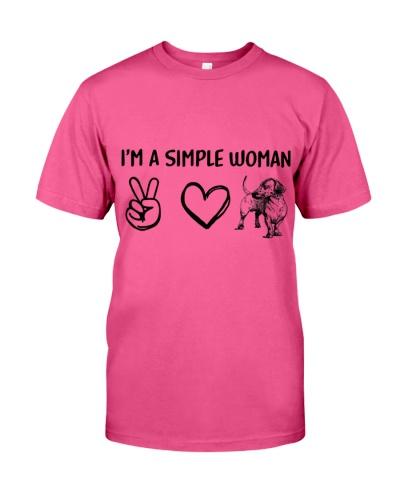 Simple woman love dachshund