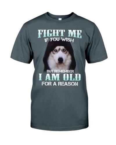 Siberian husky fight me