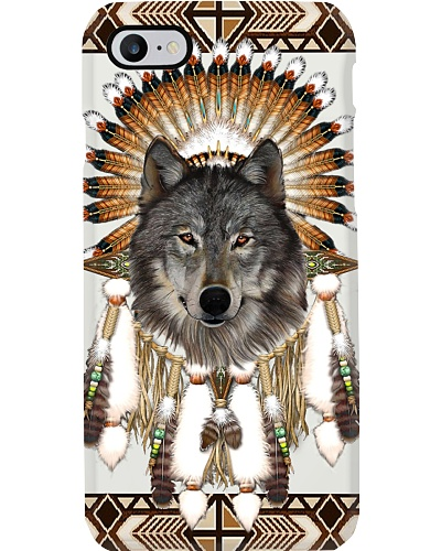 TTN 10 Native American Wolf Phone Case